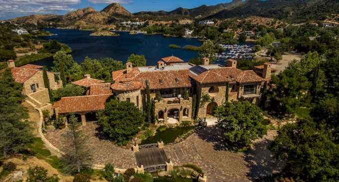 California's $35M Villa del Lago Includes 24,000 Sq. Ft. with 22+ Car Subterranean Garage (PHOTOS)
