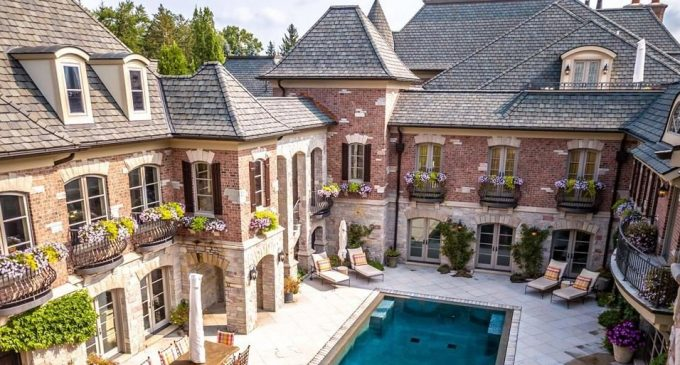 14,500 Sq. Ft. Brick & Stone Bloomfield Hills, MI Manor for $10.55M (PHOTOS & VIDEO)