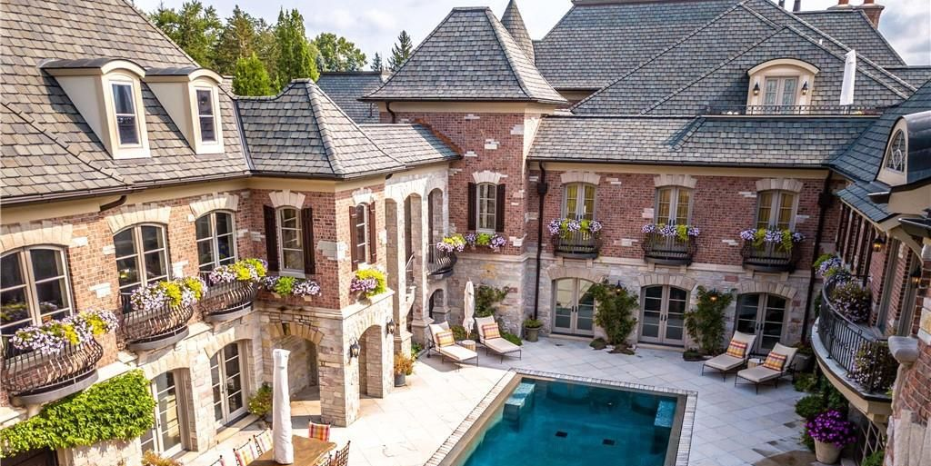 17,000 Sq. Ft. Brick & Stone Bloomfield Hills, MI Manor for $10.55M (PHOTOS)