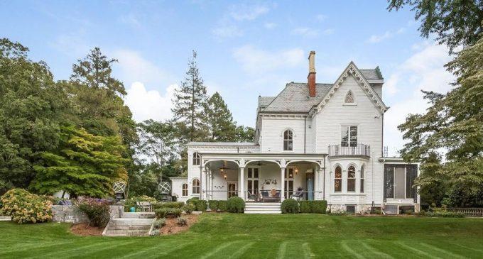 Darien, CT's Historic c.1856 Garden Gate Estate Reduced to $3.17M (PHOTOS)