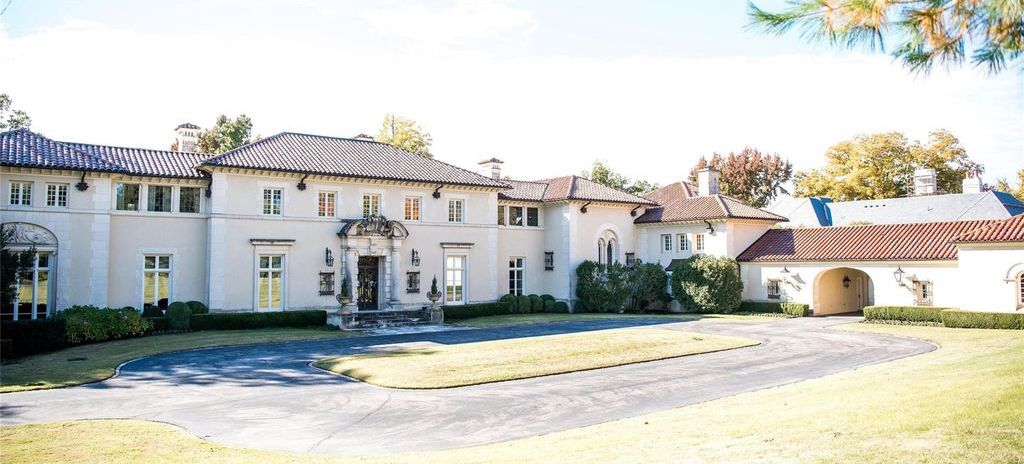 Mediterranean Villa Designed by Richardson Robertson in Tulsa, OK Reduced to $6.5M (PHOTOS)