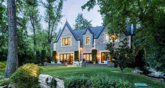 English-Style Brick & Stone Manor in Holladay UT for $5.48M (PHOTOS)