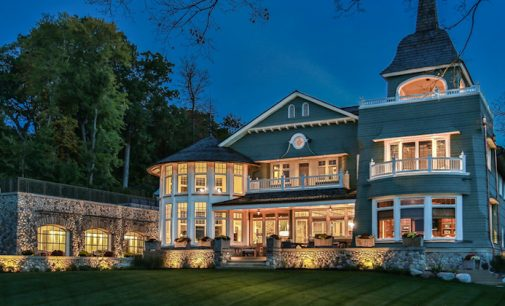 Sprawling Shingle Style Car Enthusiast's Lake House by Lowell Custom Homes (PHOTOS & VIDEO)