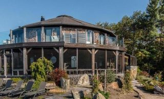 Circular Georgian Bay Beach House Reduced to $3.85M CAD, Prev. $5.47M CAD (PHOTOS)