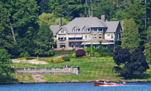 Lake George, NY's Historic c.1895 Tudor Revival Manor 'Wikiosco' Sells for $5M, Prev. $17.9M (PHOTOS & VIDEO)