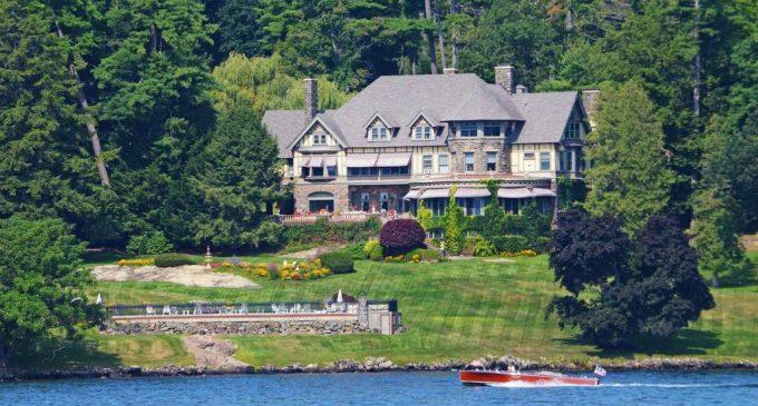 Lake George, NY's Historic c.1895 Tudor Revival Manor 'Wikiosco' Sells for $5M, Prev. $17.9M (PHOTOS & VIDEO)