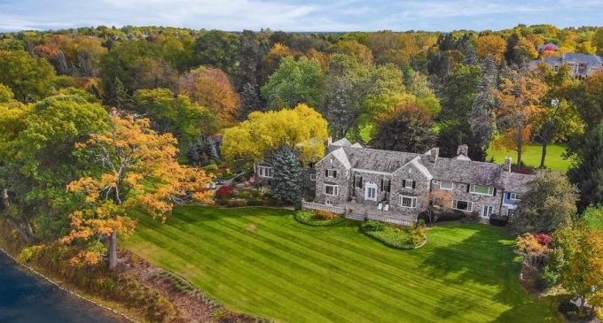 Historic c.1937 Stone Mansion on Island Lake, Michigan Sells for $2.8M (PHOTOS & VIDEO)