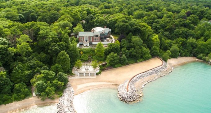 Lake Forest Mansion with Historic c.1928 Great Room and 400′ on Lake Michigan for $12M (PHOTOS)