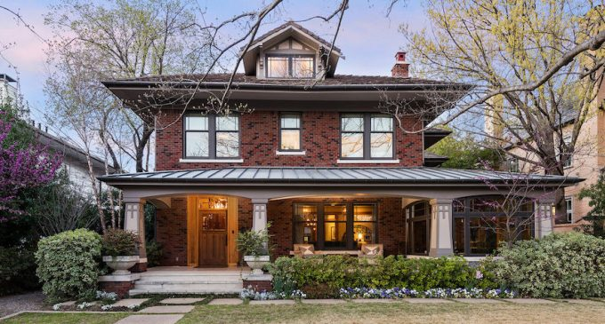 Expanded c.1915 Craftsman in Highland Park, TX Reduced to $4.3M (PHOTOS)