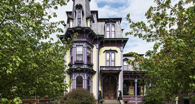 c.1874 Second Empire Manor in Hudson, NY for $1.59M (PHOTOS)