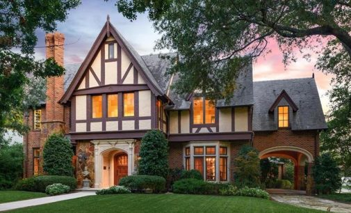 SOLD: Exceptional Tudor Revival in University Park, TX by Architect Larry E. Boerder (PHOTOS)