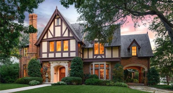 Exceptional Tudor Revival in University Park, TX by Architect Larry E. Boerder for $3.1M (PHOTOS)