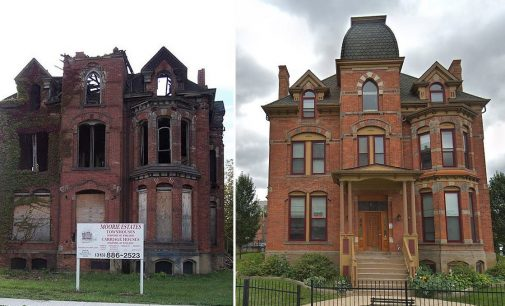 c.1885 Lucien Moore House Rebuilt in Detroit's Brush Park (PHOTOS)