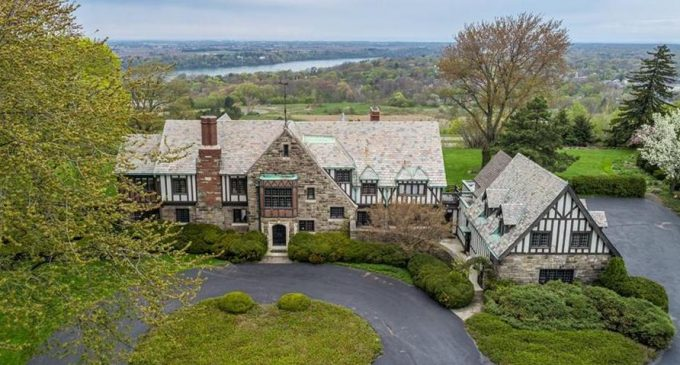 c.1928 Tudor Revival Overlooking the Niagra River in Lewiston, NY for $1.34M (PHOTOS & VIDEO)