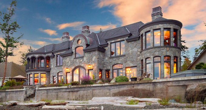 Bayfront Stone Manor by Road's End Contracting in Sidney, BC Reduced to $4.9M (PHOTOS)