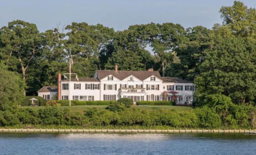c.1904 Waterside Colonial Mansion Overlooking Navesink River in Rumson for $9.95M (PHOTOS & VIDEO)