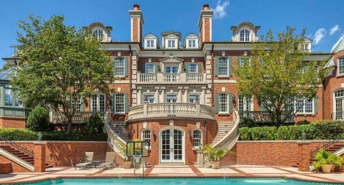 14,000 Sq. Ft. Brick Manor Modelled After Old Westbury Gardens Lists in Saint Louis, MO for $10.9M (PHOTOS & VIDEO)
