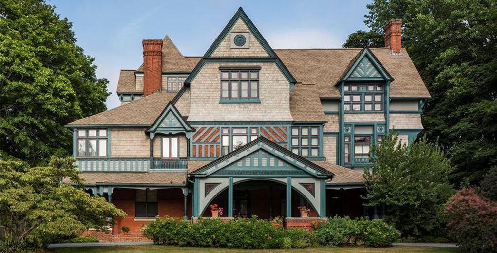 Newport, RI's Historic c.1877 Charles H. Baldwin House Reduced to $4.4M (PHOTOS)