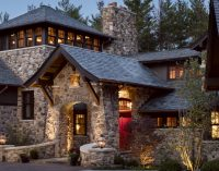 Stone Lodge by the Lake by Wade Weissmann Architecture (PHOTOS)
