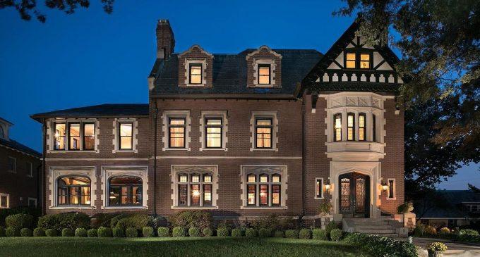 c.1910 Tudor Revival Manor Lists on St. Louis' Exclusive Washington Terrace for $1.36M (PHOTOS)