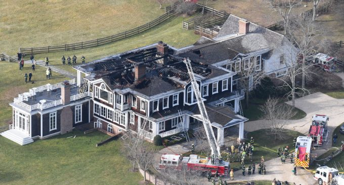 Fire Badly Damages Hamptons Home Owned by Hearst Family (PHOTOS)