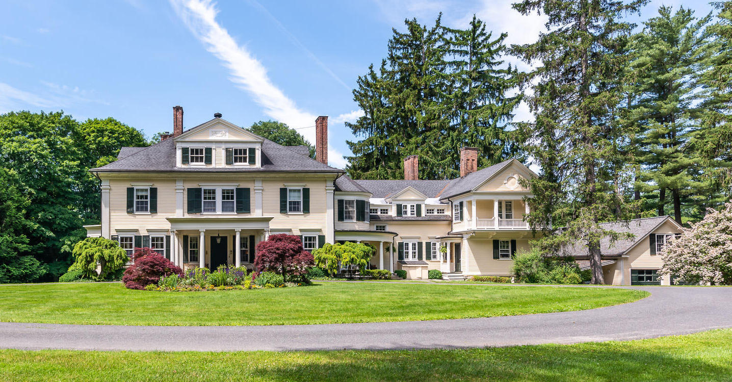 c.1888 Greek Revival on 3 Acres in Lenox, MA for $3.35M (PHOTOS)