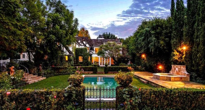Updated English Tudor Revival Lists in Beverly Hills for $15.5M (PHOTOS)