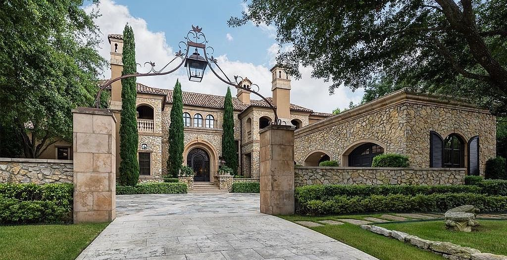 Mediterranean Residence Designed by Robert Trown in Preston Hollow Drops to $5.75M (PHOTOS)