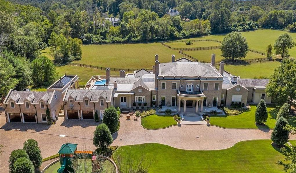 Gated 17 Acre Buckhead Estate with 15,500 Sq. Ft. Manor Asks $10.6M (PHOTOS)