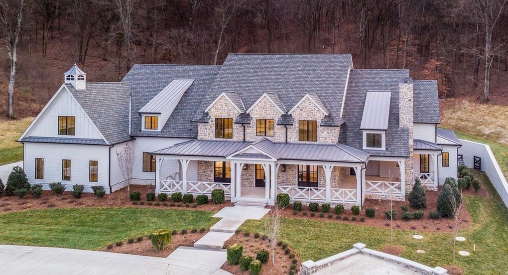 New Rustic Country Home on 5.62 Acres in Brentwood, TN for $3.7M (PHOTOS)