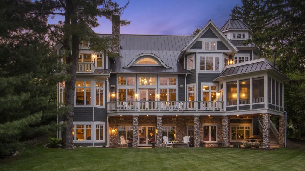 Coastal-Style Lakefront Dream Home on Geneva Lake Reduced to $6.2M (PHOTOS)
