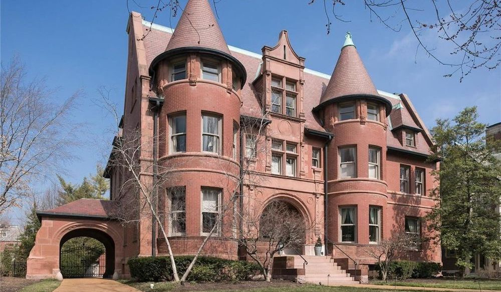 c.1893 Chateauesque-Style Mansion Designed by Grable & Weber in St. Louis for $1.3M (PHOTOS)