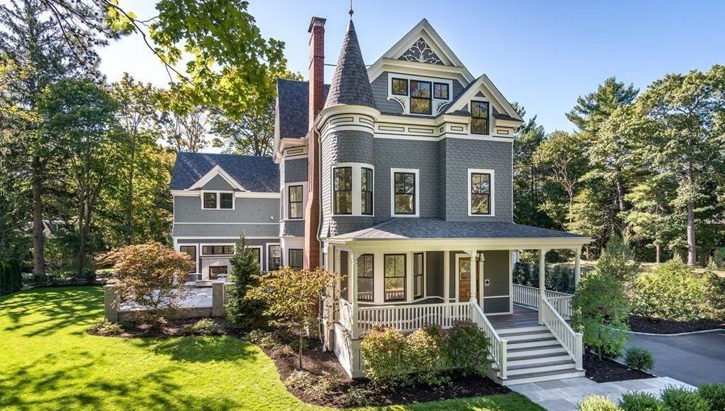 Expanded & Modernized c.1890 Queen Anne Victorian Reduced to $4.9M in Newton, MA (PHOTOS)