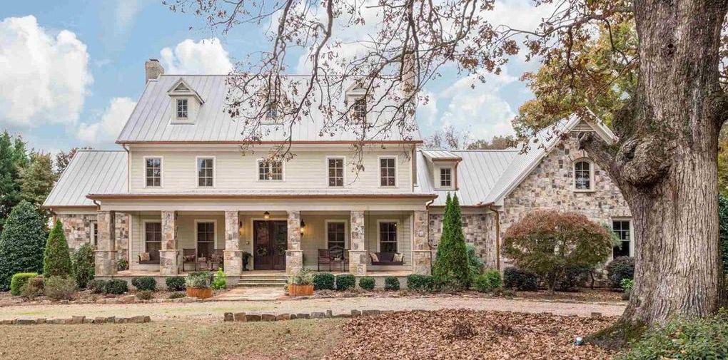 Tennessee Fieldstone Farmhouse on 221 Acres in Locust Grove, GA for $5M (PHOTOS)