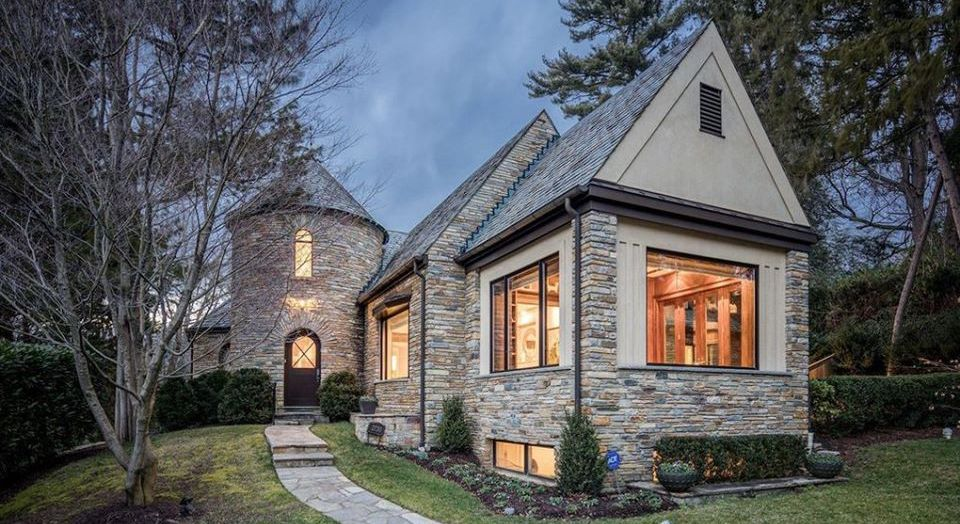 Updated c.1937 Stone Tudor Revival Lists in Washington DC for $3M (PHOTOS)