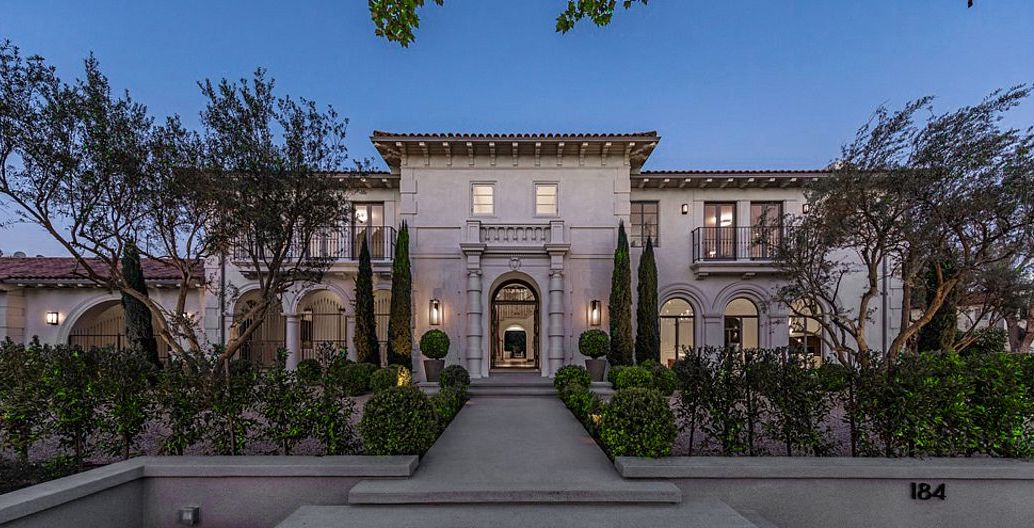 Reimagined c.1930 Italian Renaissance Revival Mansion Asks $16M in Los Angeles (PHOTOS)