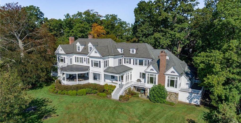 Historic c.1898 Larchmont Harbor Colonial Mansion Lists for $8M (PHOTOS)