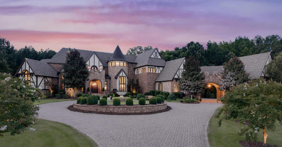 Gated 9,100 Sq. Ft. Sedgefield Residence in Waxhaw, NC Asks $2.5M (PHOTOS)