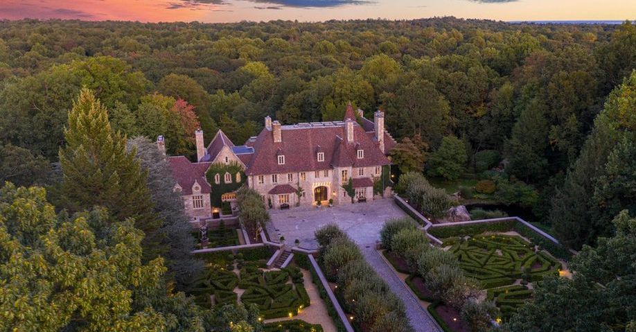 Greenwich, CT's Historic c.1927 Chateau Ridge Relists for $26.5M (PHOTOS)