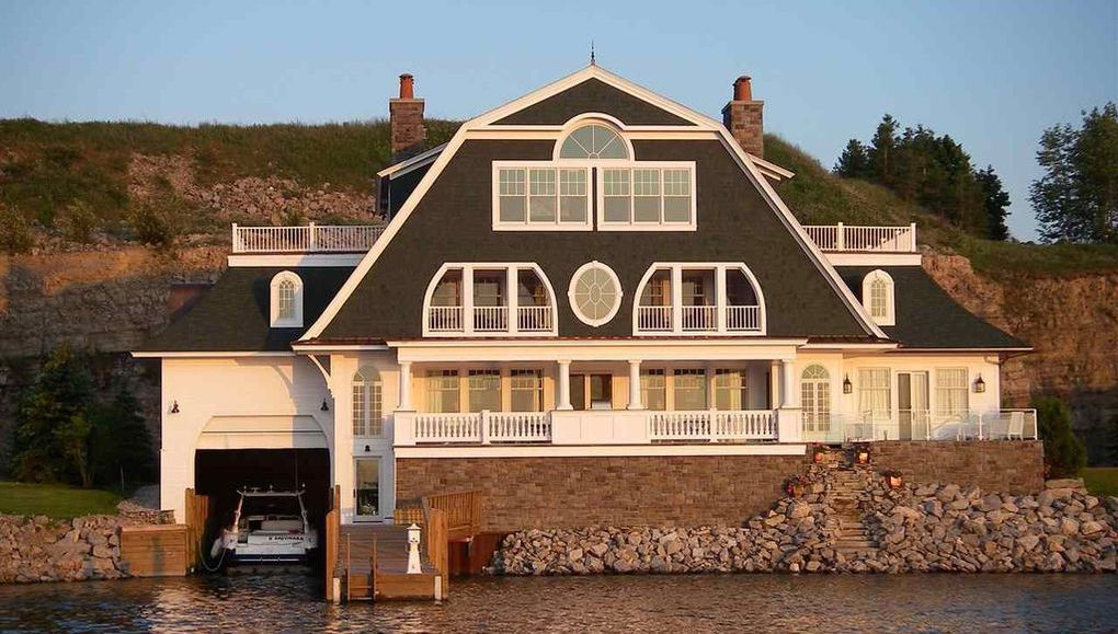 Boater's Dream Home with Attached Boat House in Bay Harbor, MI Asks $4.5M (PHOTOS)