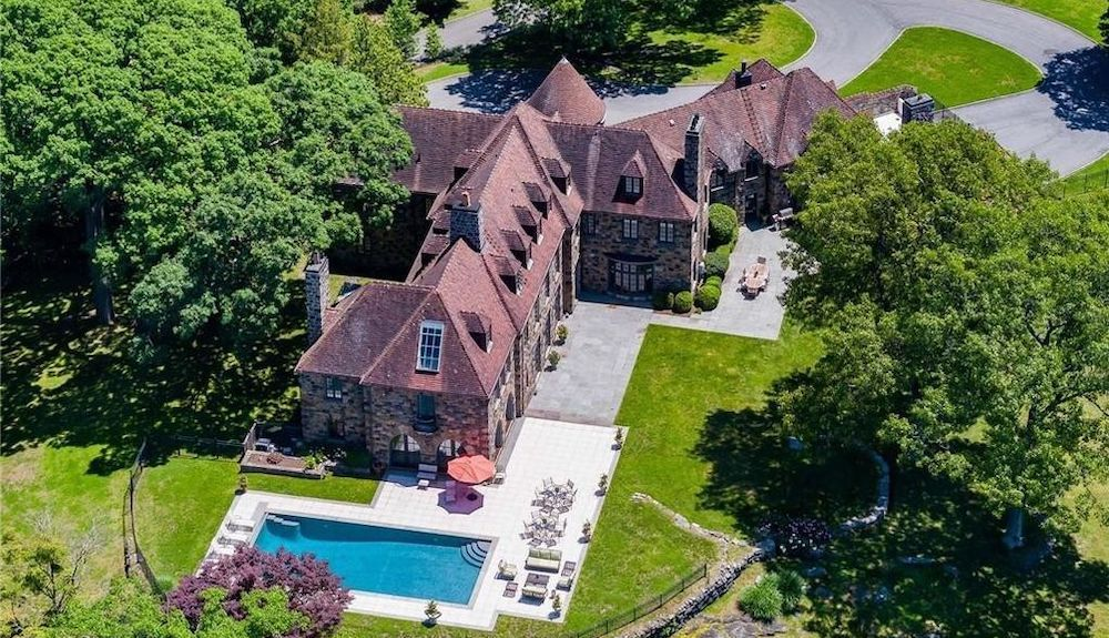 c.1926 Stone Mansion on 5.56 Acres lists in Tarrytown, NY for $9.85M (PHOTOS)