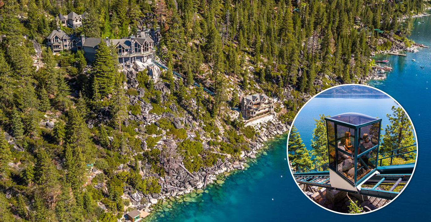 $75M Lake Tahoe Dream Home Includes Two Funiculars (PHOTOS)