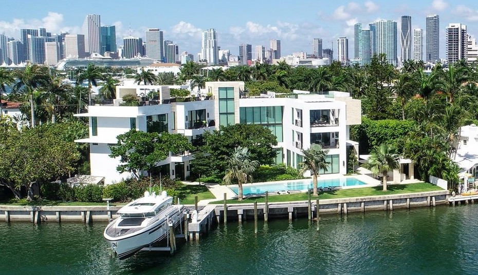 Brand New $34M San Marco Island Waterfront Home lists in Miami (PHOTOS)