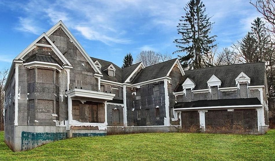 Unfinished 10,383 Sq. Ft. Colonial Reduced to $425K in Redding, CT (PHOTOS)