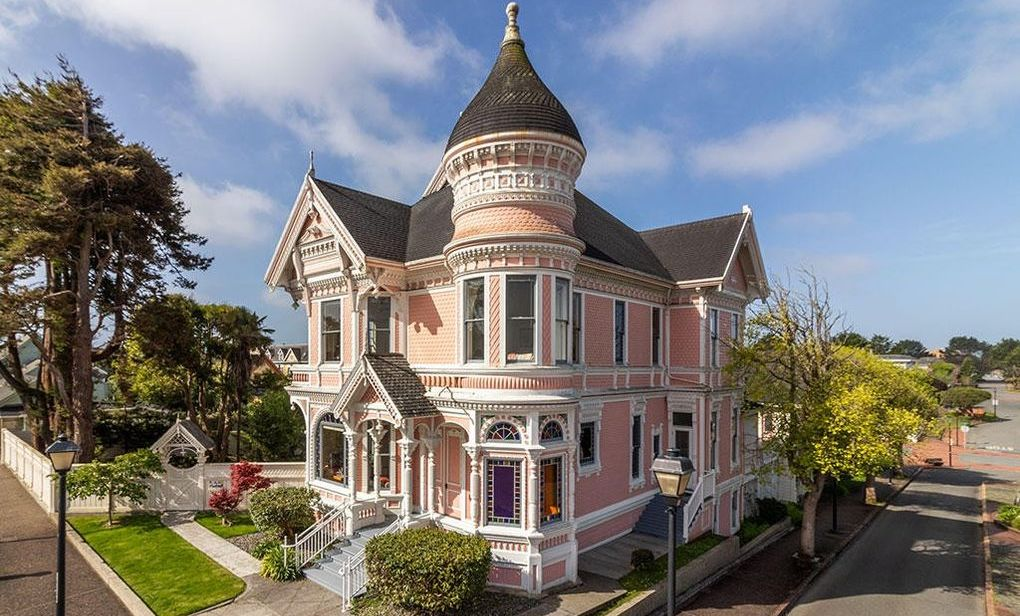Eureka, CA's Landmark Pink Lady Victorian lists for $1.29M (PHOTOS)