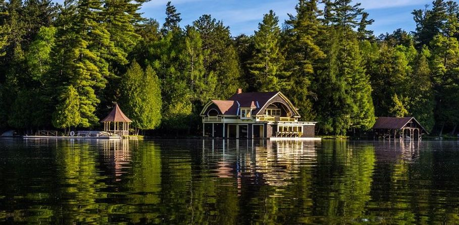 Upper Saranac Lake Gilded Age Summer Home & Boat House Sells for $2.45M (PHOTOS)
