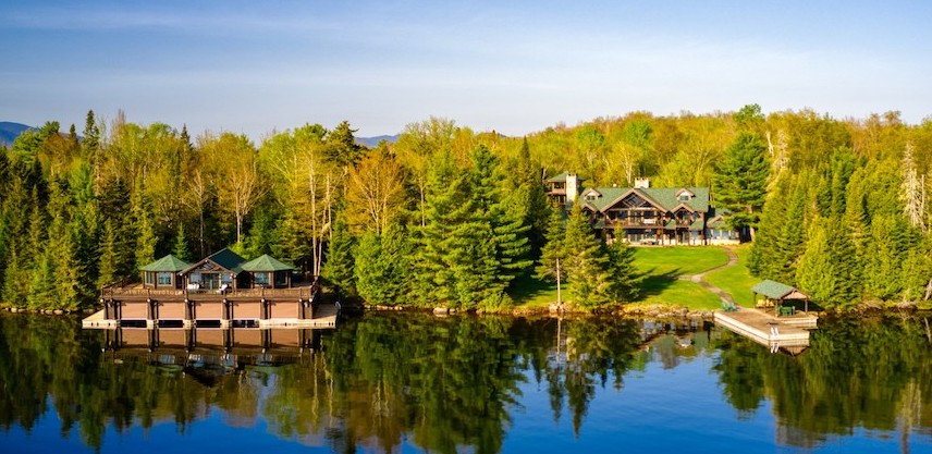 Adirondack Lodge on 23 Acre Brewster Point lists in Lake Placid, NY for $13.5M (PHOTOS)