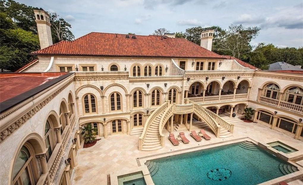 Furnished $25M Atlanta Mansion Drops to $9.8M After a Decade on the Market (PHOTOS) - Pricey Pads