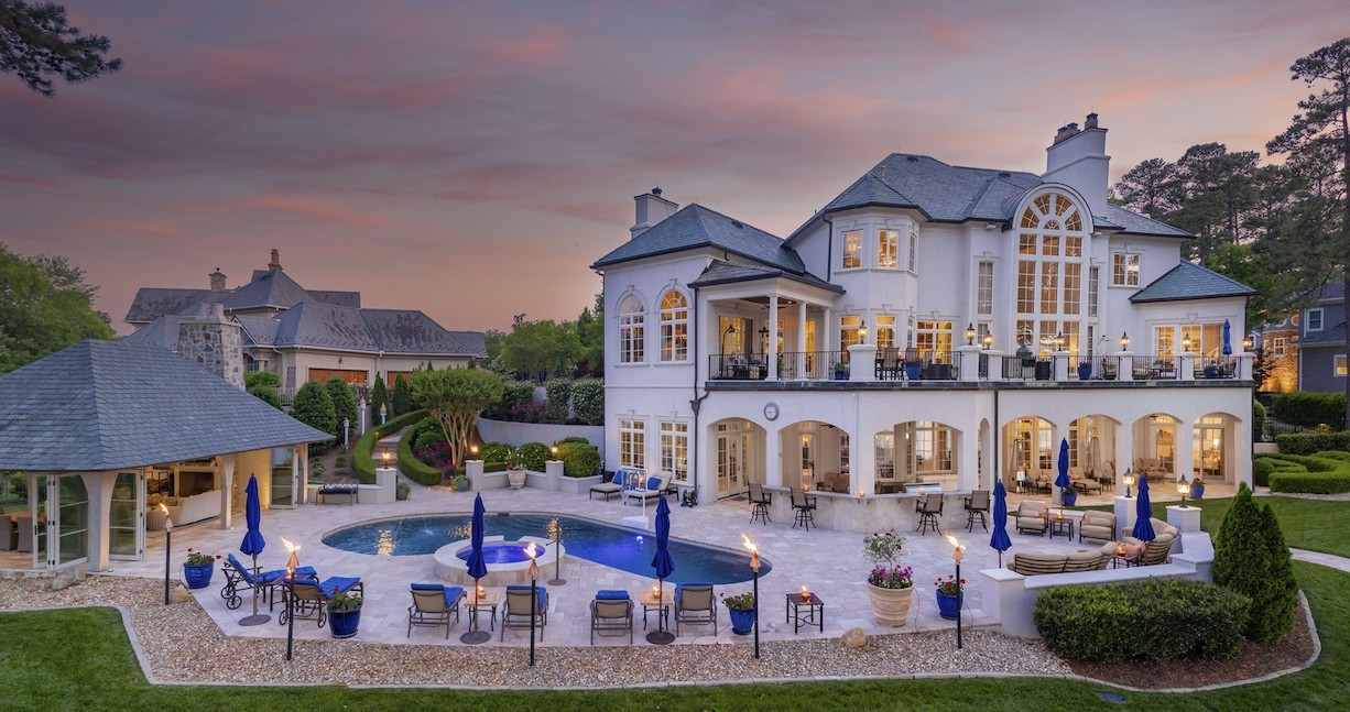 Lake Norman Summer Retreat Reduced to $5.65M in Mooresville, NC - Pricey Pads