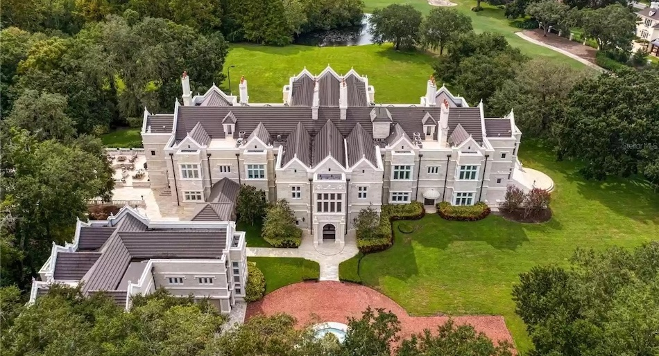 28,000 Sq. Ft. English-Style Jacobean Reduced to $8.95M in Tampa, Florida - Pricey Pads